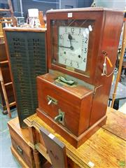 Sale 8648 - Lot 1050 - Vintage Bundy Clock with Key and Components incl. Time Card