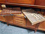 Sale 8723 - Lot 1006 - Collection of 4 Vintage Printers Drawers