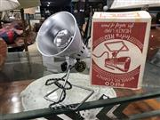 Sale 8873 - Lot 58 - Enamel White Retro Pifco Infra-red Table Lamp Inc Original Box