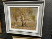 Sale 8874 - Lot 2045 - James Wynne - A Country Cottage, oil on canvas on board, 44.5 x 62cm (frame), signed lower left -