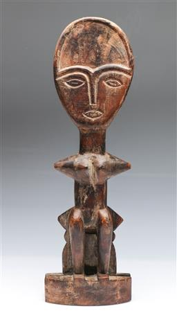 Sale 9098 - Lot 31 - A Carved Wooden Figure (H 51cm)