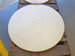 Sale 9102 - Lot 1249 - Round marble table top (d:84cm)