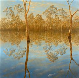 Sale 9187JM - Lot 5045 - LIN ONUS (1948 - 1996) Late Afternoon at Barmah archival pigment print, ed. 2/499 (unframed/cellophane wrapped with corflute backing...