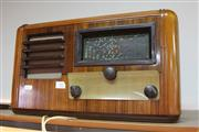 Sale 8296 - Lot 92 - Vintage Timber Cased His Masters Voice Radio