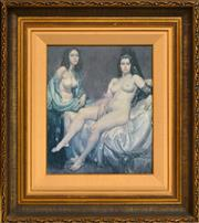 Sale 8337A - Lot 3 - Norman Lindsay (1879 - 1969) - Two Models 46 x 38cm