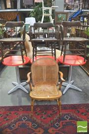 Sale 8338 - Lot 1459 - Three Captains Chairs & Caned Armchair