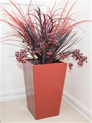Sale 8402H - Lot 92 - A tapering square formed oriental style planter. Height 57cm. Together with contents.