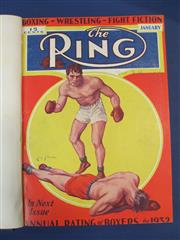 Sale 8419A - Lot 25 - The Ring 1933 - an original bound set of The Ring from January to December 1933, with great covers
