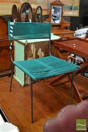 Sale 8465 - Lot 1656 - Metal Framed Chair with Weaved Rope Back & Seat