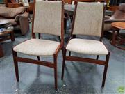 Sale 8585 - Lot 1093 - Quality Set of Eight Danish Teak Dining Chairs