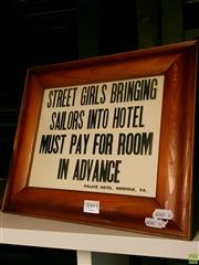 Sale 8582 - Lot 2093 - Hotel Sign