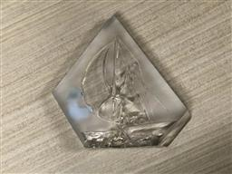 Sale 9176 - Lot 2604 - A Crystal dArques Figural Ships Paperweight (H:14.5cm)