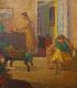 Sale 3655 - Lot 14 - Roland Wakelin (1887-1971) - Interior with Two Figures circa 1960
