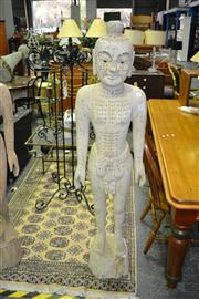 Sale 8019 - Lot 1004 - Vintage Chinese Timber and Gesso Male Acupuncture Dummy
