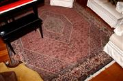 Sale 8107B - Lot 83 - A Large Possibly Senneh Wool Carpet with concentric medallion on a fine Herati ground. Width 250cm, Length 300cm.