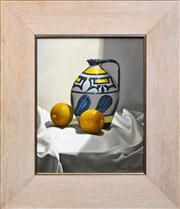 Sale 8286 - Lot 549 - Angus McDonald (1961 - ) - Still Life with Lemons 37 x 29cm