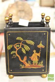 Sale 8283 - Lot 55 - Continental Hand Painted Metal Jardiniere