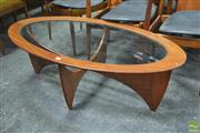 Sale 8338 - Lot 1035 - G-Plan Atmos Oval Astro Coffee Table