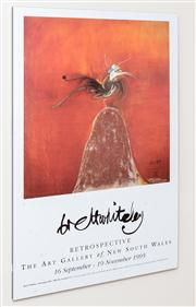 Sale 8402H - Lot 93 - Two art gallery posters, including Brett Whiteley and Wassily Kandinsky. Mounted on board.
