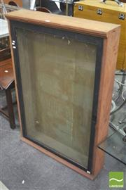 Sale 8406 - Lot 1097 - Vintage Glass Front Notice Board/Display Cabinet