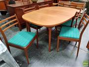 Sale 8493 - Lot 1087 - G-Plan Teak Table and 6 Chairs