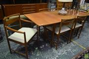 Sale 8550 - Lot 1070 - McIntosh Table and Six Chairs incl. Two Carvers
