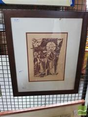 Sale 8548 - Lot 2134 - Artist Unknown, Russian Church, Woodcut, signed, 27x20
