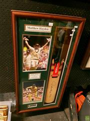Sale 8582 - Lot 2069 - Matthew Hayden Signed Cricket Bat, 380 Runs Against Zimbabwe