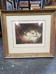 Sale 8645 - Lot 2003 - Claude-Marie Dubufe - Dreaming 79.5 x 88cm (frame size)