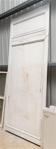 Sale 8677A - Lot 77 - A large internal timber wall panel, H 296 x W 115cm