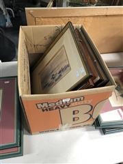 Sale 8845 - Lot 2080 - Group of Assorted Artworks incl. watercolours by Peter Dutra, Sketch of Redbank, plus Natural History Engravings of a Giraffe and...