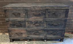 Sale 9151 - Lot 1379A - Industrial chest of nine drawers in black (h:110 w:148 d:50cm)