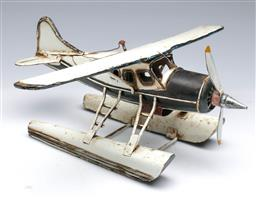 Sale 9098 - Lot 76 - A Model Sea Plane on Timber Stand (H 22cm)