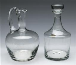 Sale 9164 - Lot 163 - A Duo of Czechoslovakian Crystal Decanters (h:22cm)