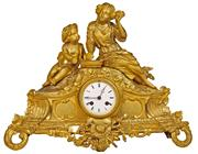 Sale 7978 - Lot 67 - French 19th Century Gilt Figural Clock