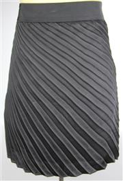 Sale 8087B - Lot 378 - THREE BOSS SKIRTS; in black and purples, UK sizes 6-8