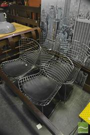 Sale 8398 - Lot 1036 - Set of Four Bertoia Style Chairs with Padded Seat