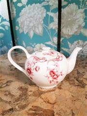 Sale 8500A - Lot 66 - A Marchand porcelain teapot - Condition: As New - Measurements: 23cm wide x 13cm high