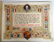 Sale 8639 - Lot 39 - Our Part in the Great War - Ruston and Hornsby Ltd Engineers London, Designed and Printed by Bemrose and Sons London.