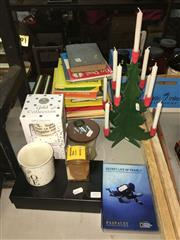 Sale 8659 - Lot 2319 - Collection of Candles, Bee Hive Form Soap, Swedish Wooden Christmas Tree & 2 Paspaley DVDs