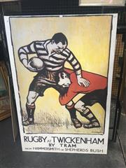 Sale 8707 - Lot 2032 - Rugby at Twickenham Decorative Print on Canvas