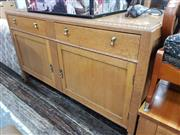 Sale 8745 - Lot 1085 - Timber Sideboard with Two Drawers & Doors