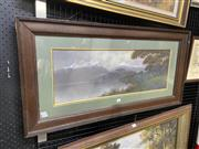 Sale 9016 - Lot 2023 - An Early New Zealand Highland Scene Painting, initialled J.H,