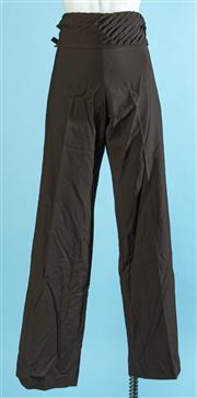 Sale 9090F - Lot 109 - A PAIR OF CHLOE WIDE LEG HIGH WAISTED TROUSERS; in a coffee bean wool mix, size 38