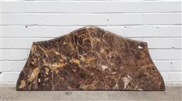 Sale 9102 - Lot 1312 - Serpentine front marble table top (w108 x d46cm)
