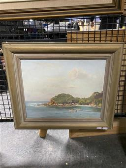 Sale 9176 - Lot 2065 - Victor Cusack A Quiet Haven oil on board 29 x 37 cm, signed lower right, inscribed and titled verso -