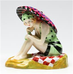 Sale 9209 - Lot 2 - A Royal Doulton porcelain figure of Sunshine Girl from the Bathers Collection (W:12cm) - certificate included