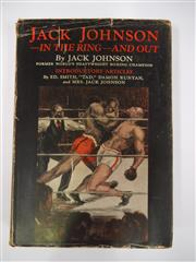 Sale 8125 - Lot 30 - Jack Johnson - In The Ring and Out. Johnsons own story, Chicago 1927. Original hardback with rare original cover.