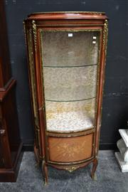 Sale 8147 - Lot 1012 - Bow Front Vitrine With Metal Mounts