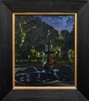 Sale 8286 - Lot 514 - Peter Churcher (1964 - ) - Nocturne 5 - The Fountain, 1997 41 x 36cm